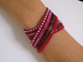 Bracelet multi-rang strass et chaine