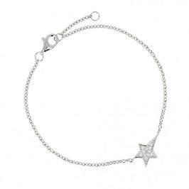 Bracelet en argent massif étoile filante