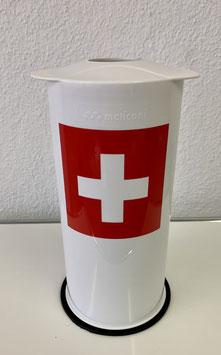 Petflaschen & Aludosen Presse weiss Swiss Edition
