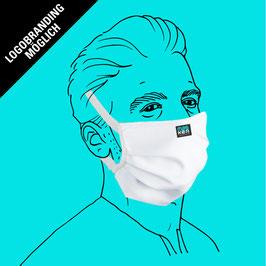 Maske (Männergröße) aus Baumwolle, mit Gummiband & Filtereinlageoption & individuellem Logo