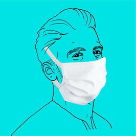 Maske (Männergröße) aus Baumwolle, mit Gummiband & Filtereinlageoption