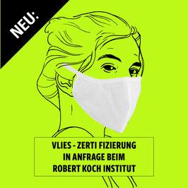 Geformte Maske aus PP-Spinnvlies mit eingenähtem 3-lagigen Vlies-Filter