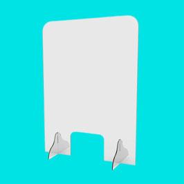 Schutzscheibe für Service-Points (hoch), mit Fenster