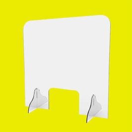 Schutzscheibe für Service-Points (Quadrat), mit Fenster