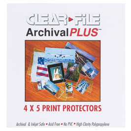 Clearfile Schutzhüllen 4x5 inch (10,2x12,7cm)