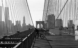 L03 - Brooklyn Bridge Radfahrer, New York City 1999