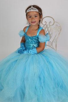 Robe tutu de princesse Océane, Bleue