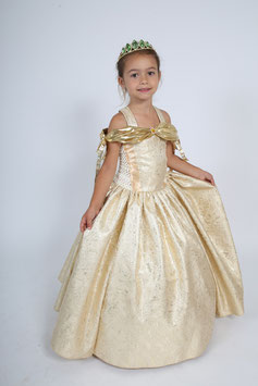 Robe de princesse Peau d'Ane, couleur soleil