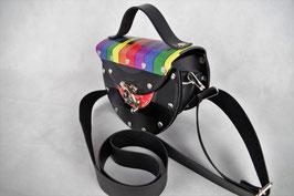 Single Tasche (halb) Regenbogen