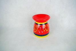 Duftlampe  Keramik Zylinder rot