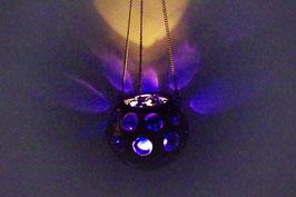 Mundgeblasene Hänge  Windlicht Mittelalter Blau