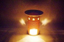 Duftlampe  Keramik Zylinder Stern