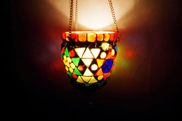 Mosaik Hänge Windlicht Breit