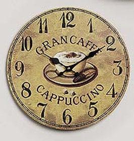 Wanduhr Cappuccino Grancaffe