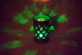Mundgeblasene Windlicht Mittelalter Dunkelgrün