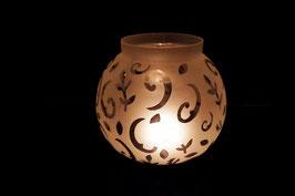 Windlicht Glas Ornament XXXL