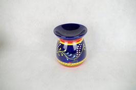 Duftlampe  Keramik Zylinder Blau