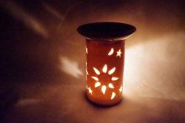 Duftlampe  Keramik Zylinder Blume