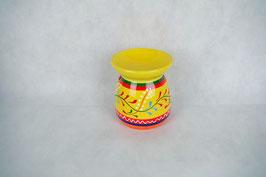 Duftlampe  Keramik Zylinder Gelb