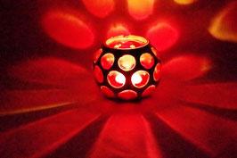 Mundgeblasene Windlicht Mittelalter Groß Rot