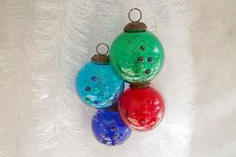 Weihnachtskugel Weihnachtsbaum Hügelchen  25 st. Div. Farbe
