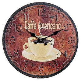 Wanduhr Caffe Americano