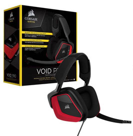 CORSAIR AURICULAR GAMING ROJO/NEGRO VOID 7.1