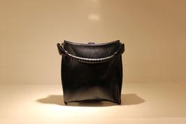 Abendtasche Leder schwarz 30ßiger Jahre
