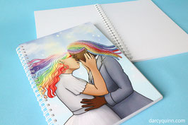 Rainbow Love Recycled Sketchbook A5