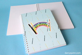Art Made Me Queer Recycled Sketchbook A5