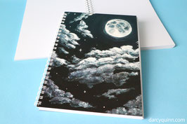 Moonlight Recycled Sketchbook A5