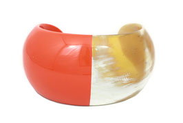 Bracelet bombé orange