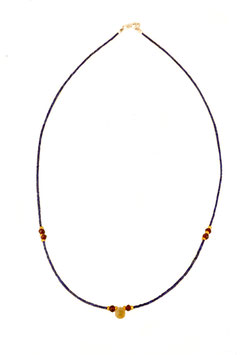Collier Lapis Faceté