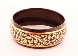 Bracelet laqué avec feuille d'or