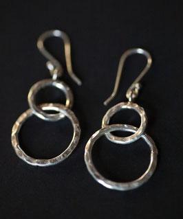 """Boucles d'oreilles """"Anneaux Martelés"""""""