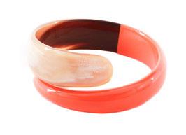 Bracelet spirale orange