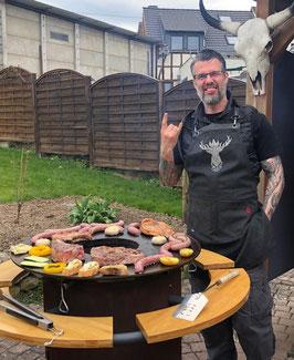 "BBQ-Schürze ""RVNE DEER"",schwarz"