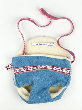 Tragesäckchen für Puppe (ca. 40cm) - blau 168