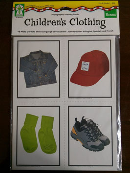 Sprachlernkarten Childrens`s Clothing