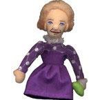 Fingerpuppe Marie Curie