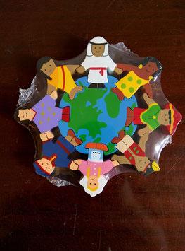 Holzpuzzle Familien der Welt