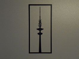 Wandbild Fernsehturm F1 oder Michel M1 HDF
