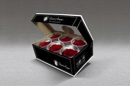 Schachtel mit 6 Rosenköpfen