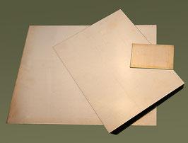 Kupferplatten, 1 mm poliert -sofort lieferbar in den Grössen: 9x12, 18x24 und 24x30 cm