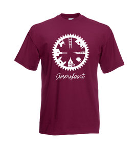 Urban Line: katoenen shirt CYCLE Amersfoort bordeaux