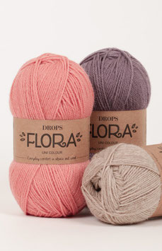 DROPS Flora - Komfort für jeden Tag aus Alpaca und Wolle