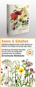 """WILDBIENENHELFER Buch + 1 Samentütchen """"Sonne & Schatten"""""""
