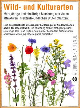 """Pflanzensamen / 3 Tütchen """"Wild- und Kulturarten"""""""