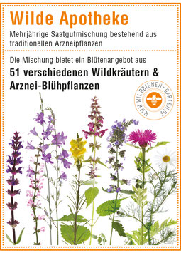 """Pflanzensamen / 3 Tütchen """"Wilde Apotheke"""""""