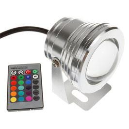 Прожектор с линзой RGB 10Вт IP67 12В герметичный